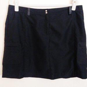 NWT IZOD Perform X Black Golf Tennis Skort Size 14